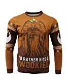 Star Wars Kiss a Wookie Weihnachtspullover Chewbacca