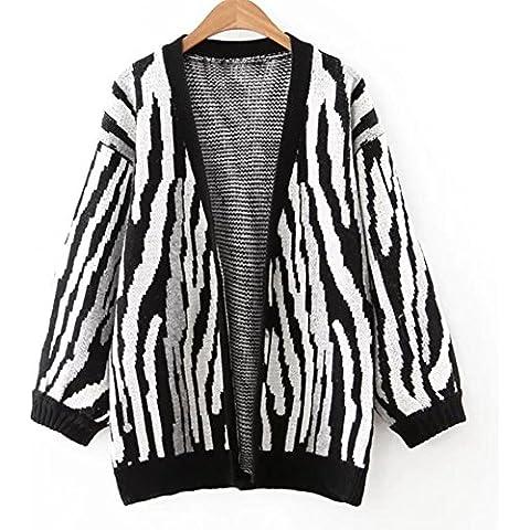 YUYU Suelto de manga larga chaqueta de punto moda a chaquetas adulto todos los días , f , picture