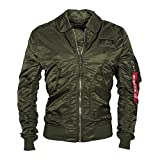 Alpha Industries Herren Jacken / Bomberjacke CWU LW PM grün XL
