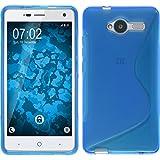 PhoneNatic Coque en Silicone pour ZTE Blade L3 - S-Style Bleu - Cover Cubierta + Films de Protection