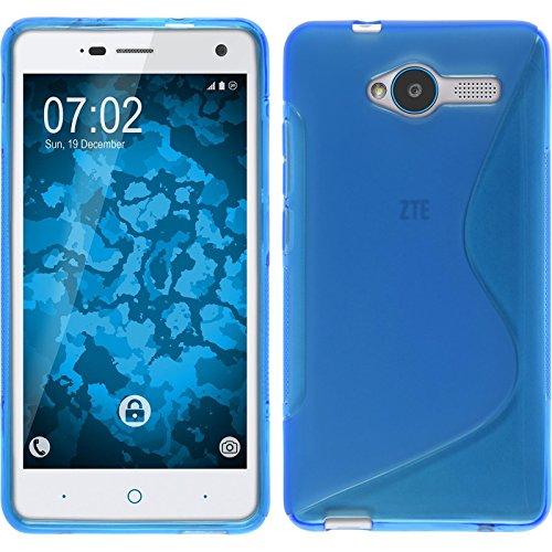 PhoneNatic Case für ZTE Blade L3 Hülle Silikon blau, S-Style + 2 Schutzfolien