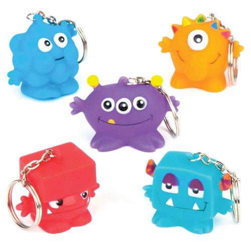 chlüsselanhänger als lustiges Spielzeug für Kinder zum günstigen Preis - perfekt als kleine Party-Überraschung für Kinder zu Halloween (6 Stück) ()
