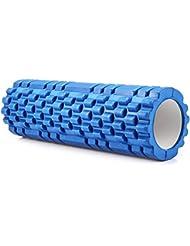 "12""X 3.8"" zenwalker punto de Eva Yoga rodillo de espuma para Pilates Fitness gimnasio en casa fisioterapia masaje, azul"