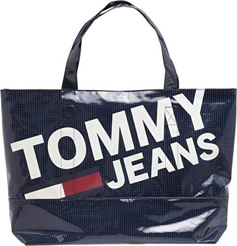 Tommy Jeans Summer Tote Womens Shopper Bag One Size Black Iris -