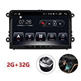 "D-NOBLE Autoradio Sistema Stereo GPS Car DVD Player 9"" HD Touch Screen Bluetooth Android 6.0 64Bit Quadcore 2GB/32GB Auto Navigazione Sistemi Lettori Audio MP3 Car Entertainment Multimedia with AM/FM/RDS AUX WiFi Mirror Link 1080P for Volkswagen VW Golf Polo Touran PASSAT Beetle (9009)"