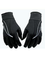 Longless Guantes Unisex otoño una capa delgada pantalla táctil de estirar todos los dedos antideslizantes/funcionamiento de conducción guantes deportivos