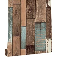 Peel and Stick Wallpaper Wood Self Adhesive Contact Paper for Bedroom Livingroom Decoration