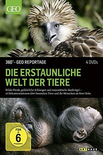 360° - GEO Reportage: Die erstaunliche Welt der Tiere [4 DVDs]
