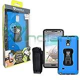 Schutzhülle Armor-X Rugged Galaxy Note 4 Farben, Blau für Ihr Display
