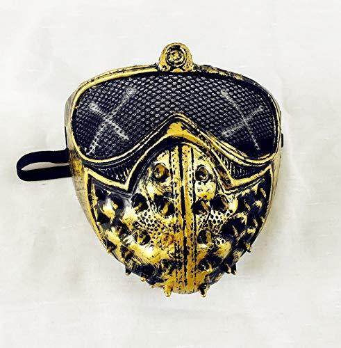 cus Holloway Schlüssel Maske PVC Erwachsene Männer Cosplay Prop Kostüm Halben Helm Halloween Uhr Hunde 2 Cosplay Maske ()