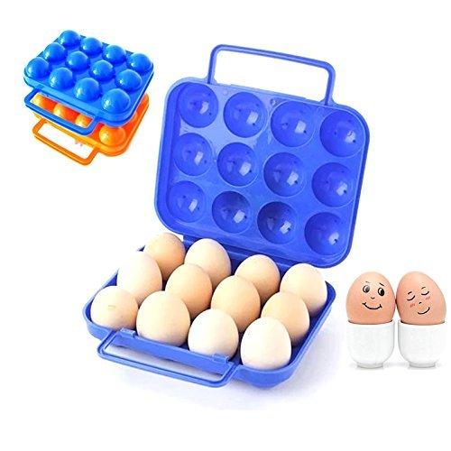 WAVE SHOP Plastic Egg Carry Holder Carrier Storage Box For 12 Pcs Egg - 1 Pc Random Color