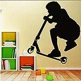 Zlxzlx Roller Kinder Wandkunst Aufkleber Wandaufkleber Wandbild Für Wohnkultur Wohnzimmer Kinderzimmer Diy Wasserdichte Dekoration Zubehör 56 * 68 Cm
