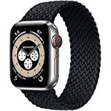 Braided Solo Loop Band Size 42/44 mm Medium - Wrist Size 140-190 mm Stretchable Woven Fabric Elastic Strap For Apple Watch Se