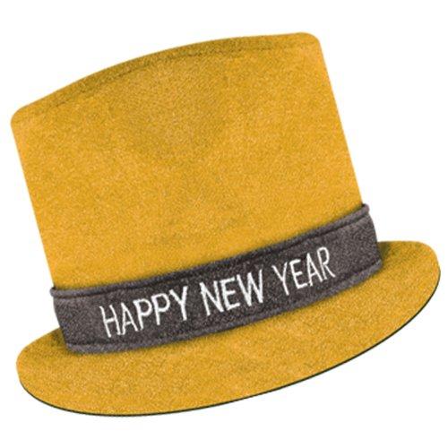 Beistle 80703-gd Gold Glitz 'n Sparkle Frohes Neues Jahr Top Hat, 1pro Paket