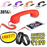 ZONGG,COCO PHONE radiation free phone 3.5mm jack Wired Retro Handset Receiver compatible for all smart Phones, Laptop, PC, iPad, (Get FREE digital L.E.D wrist band worht Rs 199/- from ZONGG) Model 423182
