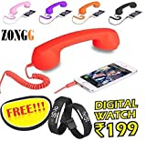 #5: ZONGG,COCO PHONE radiation free phone 3.5mm jack Wired Retro Handset Receiver compatible for all smart Phones, Laptop, PC, iPad, (Get FREE digital L.E.D wrist band worht Rs 199/- from ZONGG) Model 423182