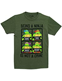 Teenage Mutant Ninja Turtles Team Mug Shots Hommes Forest Vert T-Shirt | S