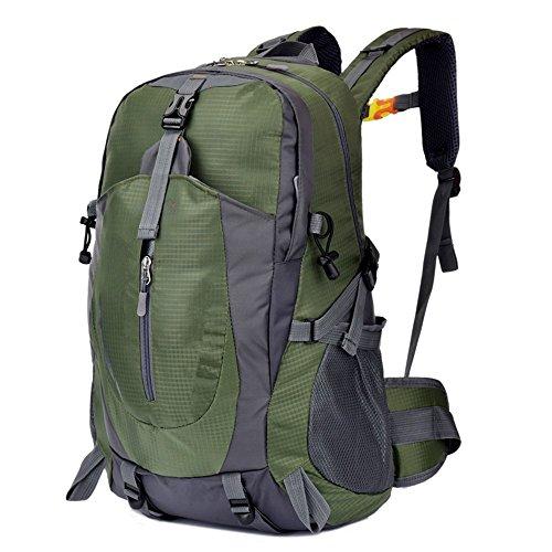 RucksackUltra-leichteWanderungim freienKletternTascheTascheAnti-SpritzerFach(40 L), Orange Army green