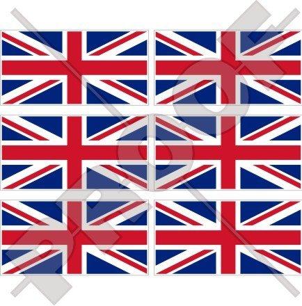 British Union Jack Flagge United Kingdom Großbritannien UK 40mm (40,6cm) Mobile Handy Vinyl Mini Sticker, Aufkleber X6 Mini-jack Helm