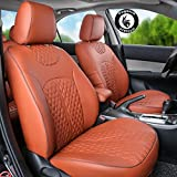 #7: Pegasus Premium PU Leather Car Seat cover Tan For Ford Ecosport