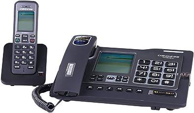 Phone Wireless-Telefon/Festnetztelefon Dual-Interface-Anrufer Lautstärkeanpassung Drei-Wege-Anruf (2 Stile)