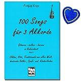 100canciones para Acordes de 31de banda (Azul)-Guitarra Escuela de Frith jof crepé y retoques inicial-Guitarra con 300Moderno y conocidos Canciones-con Bunter herzförmiger Ordenador Pinza