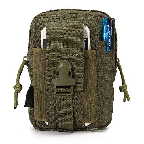 CAMTOA Leicht klein Tactical Hip Bag Hüfttasche Beintasche,Mode Multifunktional Handytasche für Camping Wandern Outdoor Armee grün