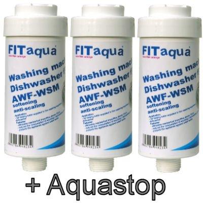ET-III 3 x Kalkfilter Spülmaschine Geschirrspüler Waschmaschine, 3 Stück (Aqua-geschirr-sets)