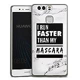 DeinDesign Huawei P9 Slim Case transparent anthrazit Silikon Hülle Schutzhülle Mascara Beauty Statement