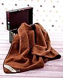 MARRON Manta de 100% pura lana Merina marrón MANTA 200 x 250 cm Cálido y Natural Certificada por Woolmark. Muy suave y confortable. Manta Sofa