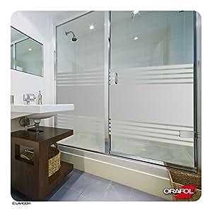 Pour cabine de douche graz design film anti regards adh sif pour vitre de salle de bain motifs - Film vitre salle de bain ...