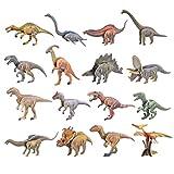 deAO 3D Puzle Figuras de Dinosaurios Modelos 3D Rompecabezas Infantil Maqueta DIY Kit de Construcción (16 Dinosaurios)