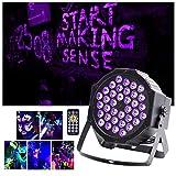 Black Light UKing 36 UV-LED-Bühnenlichter von Remote und DMX Controller Grow in the Dark für Halloween-Hochzeits-Weihnachtsparty