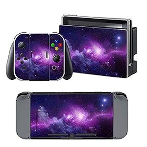 Nintendo Switch + Controller Aufkleber Schutzfolien Set – Galaxy /Switch