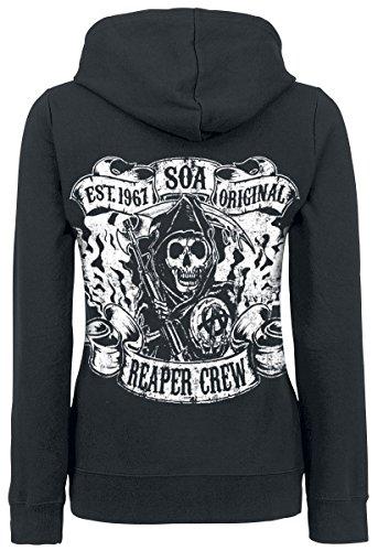 Sons Of Anarchy Reaper Crew Girl-Kapuzenjacke schwarz Schwarz