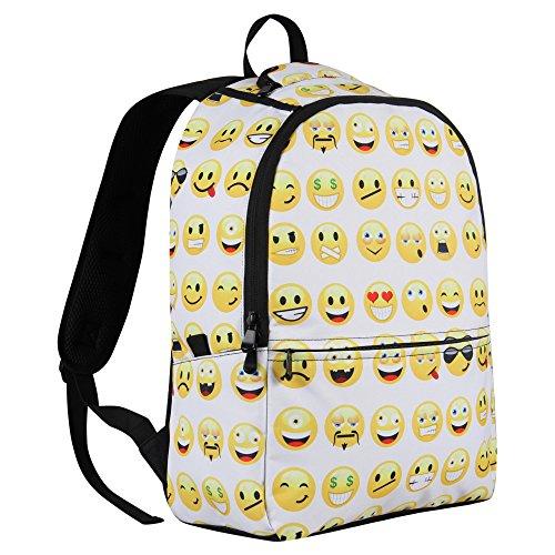 Imagen de veevan   escolar diseño smiley faces, color negro y blanco, tamaño large alternativa