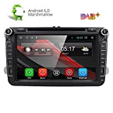 HIZPO® 8' Android 6.0 HD Digital Multi-touch Screen 1080P Video Car in Dash DVD Player Custom fit for Volkswagen / Seat / Skoda