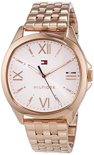 Tommy Hilfiger Unisex Analog Quarz Uhr mit Edelstahl Armband 1781890 (Tommy Hilfiger Watch Orange)