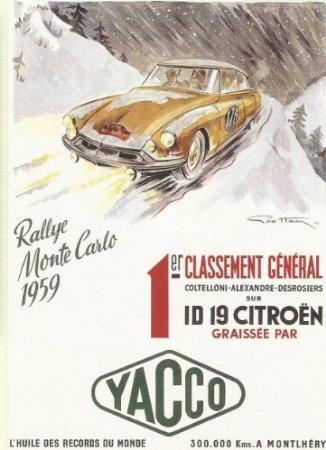 FRANZOSICH VINTAGE METALL BLECHSCHILD 20X15cm RETRO WERBUNG CITROEN ID 19 MONTECARLO AUTORALLYE (Vintage Werbung)