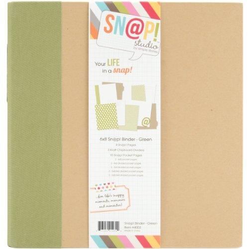 Unbekannt Simple Stories Karton Snap Binder 6x 20,3cm, grün - 6x6 Binder