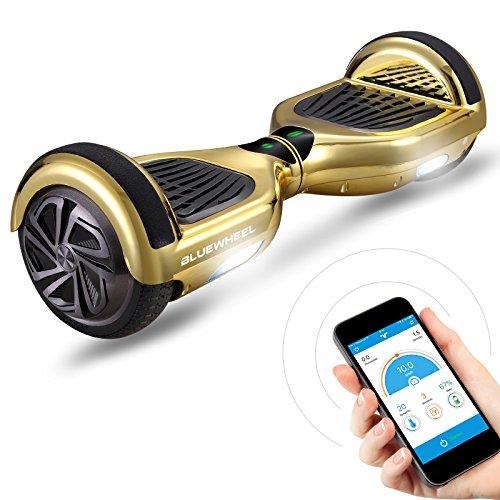 """Bluewheel Skateboard Elettrico Elettrico HX310s, Scooter Elettrico a Due Ruote 6.5\"""", Smart Self Balance Board Elettrico con Bluetooth Speaker, Funzione App e Fari a LED Induttivi"""