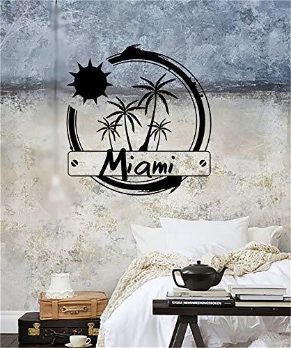 Wandtattoo Wohnzimmer Wandtattoo Schlafzimmer Miami Vereinigte Staaten Sun Palm Beach Vacation (Baby-shops Miami In)