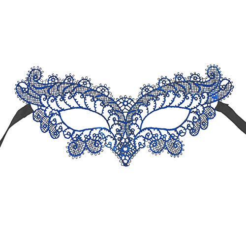 Lazzboy Maskerade Mask Lace Mask Catwoman Halloween Ausschnitt Prom Party Zubehör(Blau)