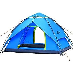 IREGRO Tenda automatica idraulica di primavera Campeggio tenda tenda familiare con ampio spazio per 3-4 persone