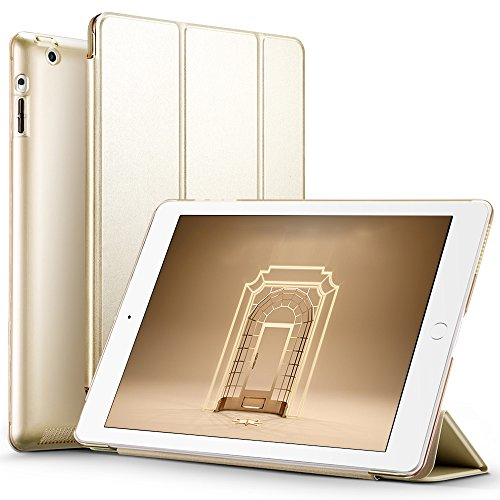 Carcasa iPad 2/3/4 Funda, ESR Serie Yippee iPad 2/3/4 Carcasa Smart Cover de Triple Plegado para iPad 4/3/2 Funda (Champagne