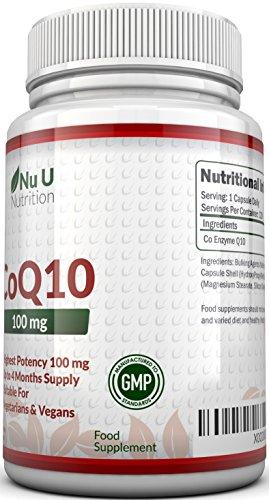 5138zksw7NL - CoQ10 da 100 mg, 120 Capsule di Coenzima Q10 - Integratori alimentari Nu U Nutrition