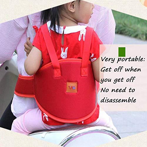 PYY Kinder Motorrad Sicherheit Gürtel Reiten Sicherheit Harness Elektroauto, Motorrad, Batterie, Auto, Sitz der Lokomotive, Kindersicherheitsgurt der Kinder,Red
