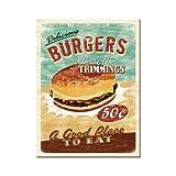 Nostalgic-Art 14230 USA - Burgers, Magnet 8x6 cm