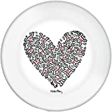 """Platex 91010020622 Melamine Plates (Set of 6) - 2 cm - """"Love"""" by Keith Haring"""