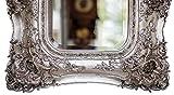 Spiegel 65x72cm Wandspiegel silberfarben Verzierungen Rosen antik Stil mirror - 4